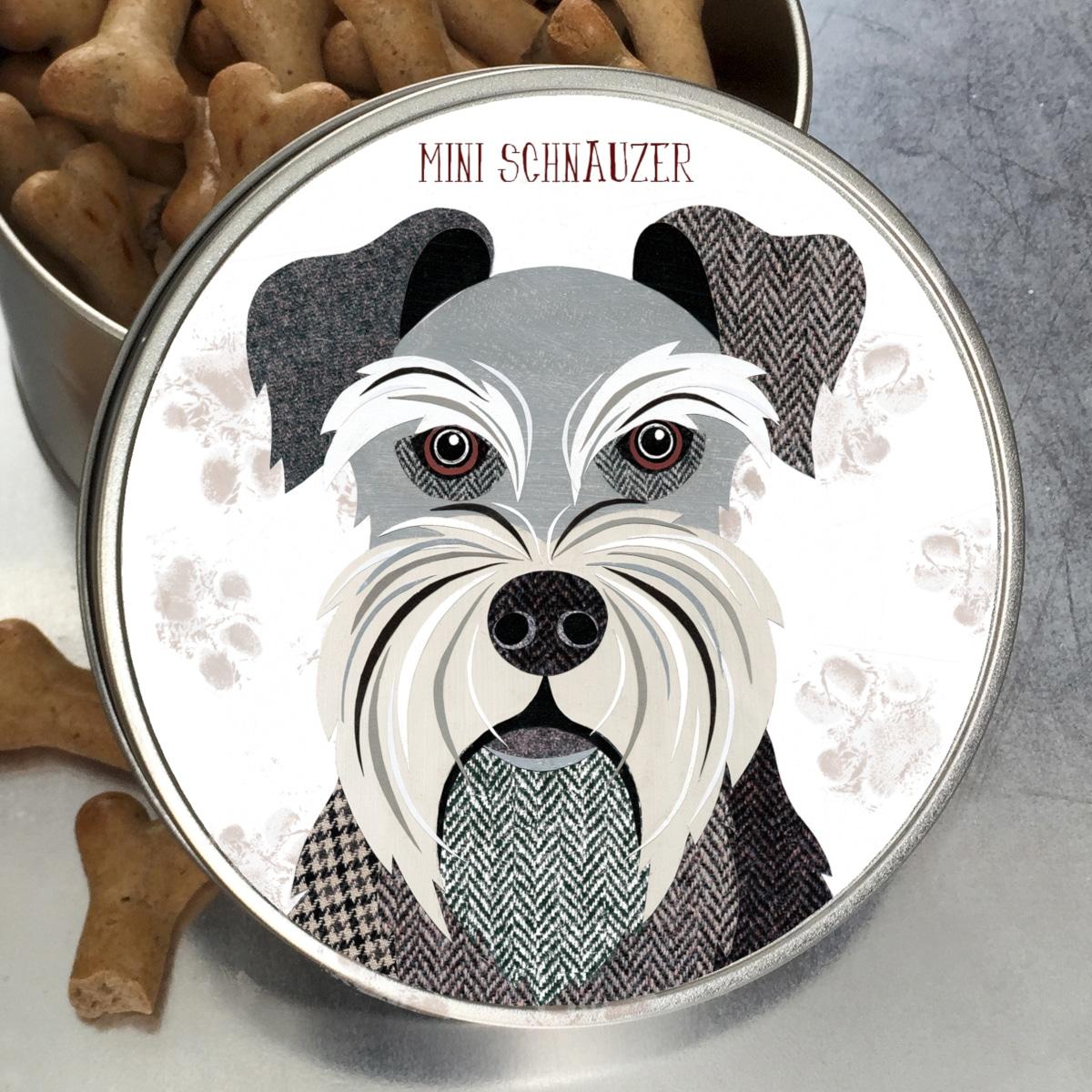 Mini Schnauzer Dog Tin from Simon Hart