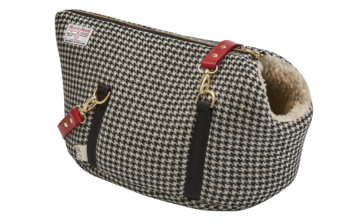 Two stylish bags for the pooch about town