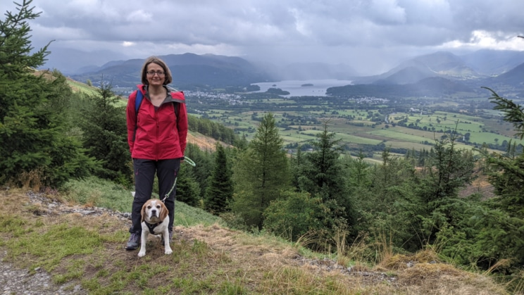 Walking in the lakes with Poppy